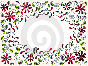 Greeting Card With Abstract Floral Elements Royalty Free Stock Photos - Image: 22309088
