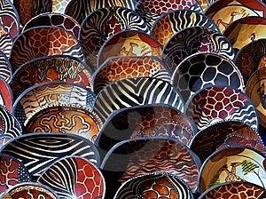 Afrikaanse Houten Kommen Royalty-vrije Stock Afbeelding - Afbeelding: 22313806
