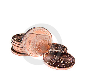 Two Pence Coins Stock Image - Image: 22314461