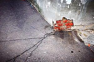 Crack In Asphalt Horizontal Stock Photography - Image: 22317302