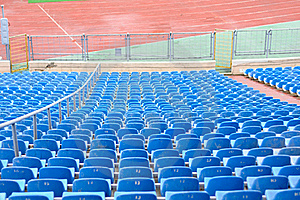 Empty Plastic Chairs At The Stadium Stock Images - Image: 22317614