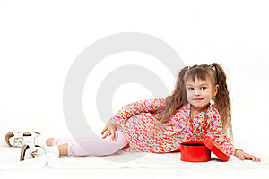 Little Girl With Her Present Stock Photography - Image: 22326452