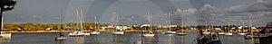 Panoramic Porto Colom Stock Image - Image: 22327381