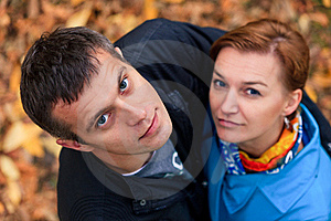 Romantic Couple In A Park Royalty Free Stock Photography - Image: 22327677