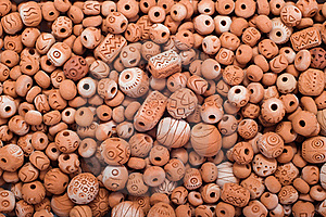 Clay Beads Royalty Free Stock Image - Image: 22332686