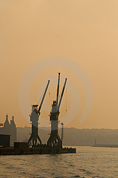 Ship Cranes Stock Images - Image: 22346564