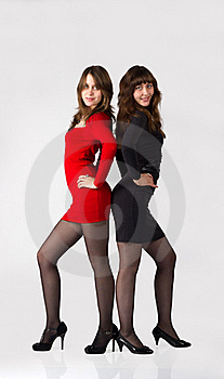 Pretty Sisters Twins Royalty Free Stock Photo - Image: 22346845