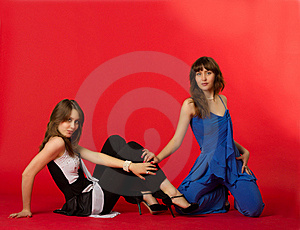 Pretty Sexy Sisters Twins Stock Photography - Image: 22346872