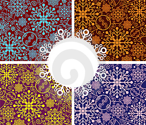 Abstract Snowflakes Background Royalty Free Stock Photo - Image: 22347355