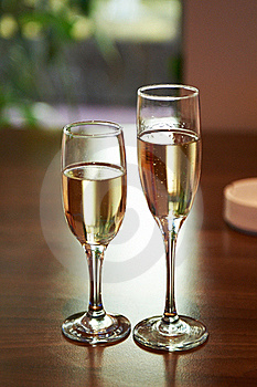 Two Glasses Of Champagne Royalty Free Stock Photo - Image: 22347815