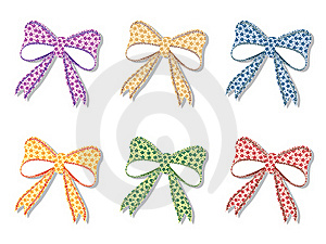 Floral Bows Set Royalty Free Stock Image - Image: 22362016