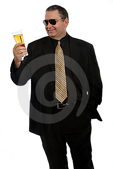 Man Inspecting His Glass Royalty Free Stock Photography - Image: 22368547