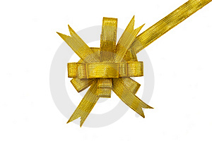 Golden Gift Bow Royalty Free Stock Images - Image: 22369979