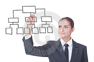 Young Businesswoman With An Empty Diagram Royalty Free Stock Photography - Image: 22372387