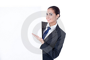 Young Businesswoman With An Empty Copyspace Stock Image - Image: 22372401