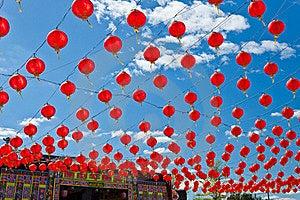 Red Lanterns Royalty Free Stock Images - Image: 22384199