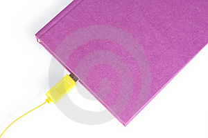 Book With Cable Stock Images - Image: 22385094