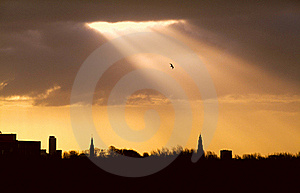 Sunlight In The City Royalty Free Stock Images - Image: 22396679