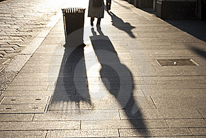 Walk In The Sunset Stock Image - Image: 22398191
