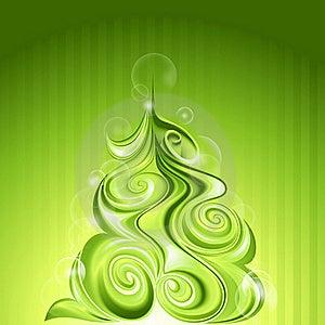 Shining Abstract Christmas Tree Stock Image - Image: 22398651