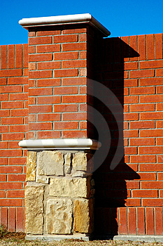 Brick Column Royalty Free Stock Photos - Image: 2240318