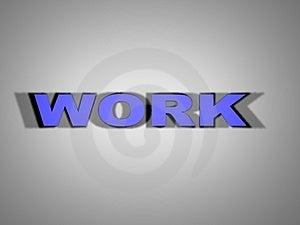 Sign Work 3 Stock Image - Image: 2240791