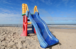 Slide on the Beach Free Stock Photo