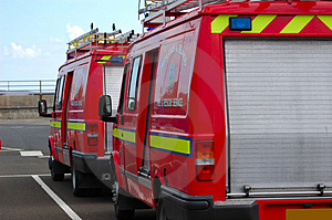 British Fire Support Vehicle Royalty Free Stock Photo - Image: 2245885