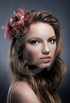 Portrait Of Young Attractive Girl With Bow Closeup Stock Images - Image: 22401884