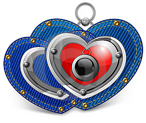 Two Jewelry Hearts Royalty Free Stock Image - Image: 22402176