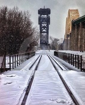 Railroad Bridge/International Bridge Royalty Free Stock Images - Image: 22405809