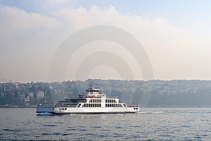 Ferry On Sea Royalty Free Stock Photos - Image: 22409628