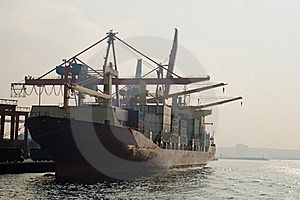 Container Ship Royalty Free Stock Images - Image: 22409809