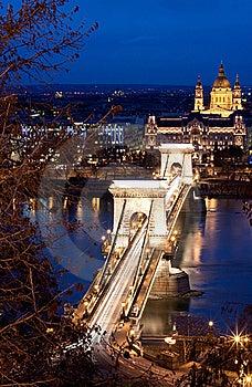 Chain Bridge Royalty Free Stock Image - Image: 22412586