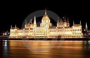Hungarian Parliament At Night Stock Photo - Image: 22412590