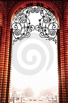 The Brick Arch In Vintage Style Stock Photography - Image: 22413222
