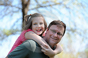 Father And Daugther Having Fun Stock Image - Image: 22414171
