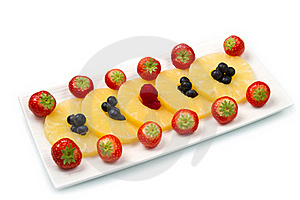 Pineapple Slices With Berries Royalty Free Stock Image - Image: 22415456