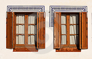 Windows With Wooden Shutters. Stock Images - Image: 22415554