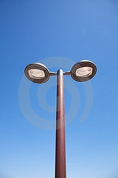 Double Modern Streetlamp Royalty Free Stock Photography - Image: 22416997