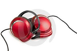 Auricular Con Estilo Rojo Imagen de archivo libre de regalías - Imagen: 22422346