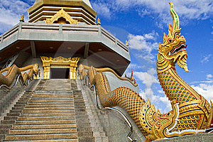 Serpent Of Thai Temple. Royalty Free Stock Image - Image: 22428766