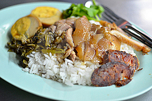 Teriyaki Pork With Rice , Asian Style Food Royalty Free Stock Photography - Image: 22429907