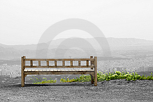 Bench On Hill Stock Photos - Image: 22430573