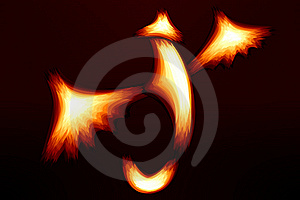 Fiery Dragon Stock Image - Image: 22431141