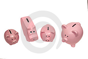 Different Kinds Of Piggy Banks Royalty Free Stock Photography - Image: 22432027