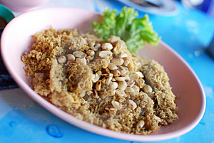 Spicy Salad Of Fried Minced Fish Stock Photos - Image: 22433223