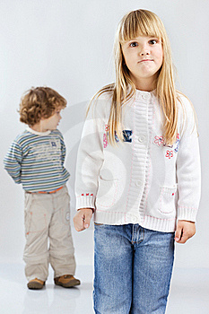 Two Children Royalty Free Stock Photography - Image: 22434767