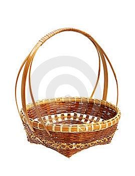 Bamboo Weave Basket Isolated On White Background Royalty Free Stock Photo - Image: 22436155