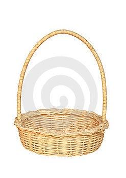 Bamboo Weave Basket Isolated On White Background Stock Image - Image: 22436161